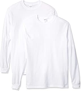 Men's Heavy Cotton Long Sleeve T-Shirt, 2-Pack