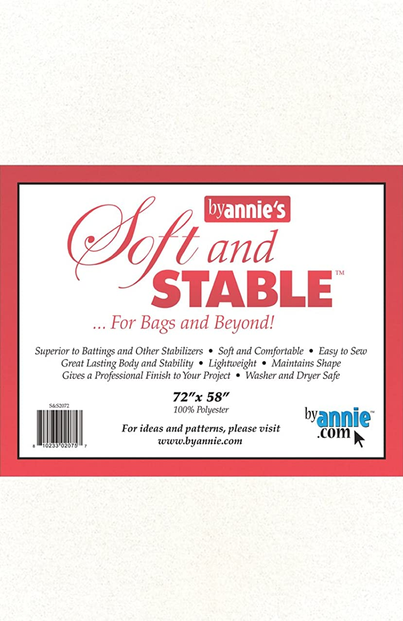 Annie S&S2072 Soft and Stable Fabric, 72 by 58-Inch, White