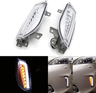 iJDMTOY Clear Lens LED DRL/Turn Signal Lights For 12-15 Toyota Prius V (ZVW40/41 ONLY), JDM Style Direct Fit Lower Bumper Lights Assembly