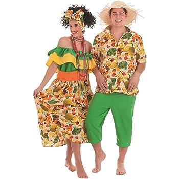 Creaciones Llopis Disfraz de Cubana Beige para Mujer: Amazon.es ...