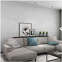 Wallpaper Modern Minimalist Non-woven Simple 3d Three-dimensional Lotus Wallpaper High-end Bedroom Living Room Wall Modern Wallpaper,Gray