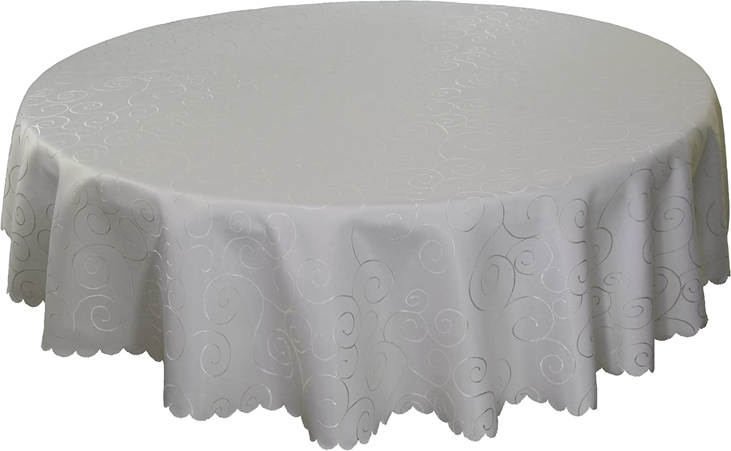 Selling rankings EcoSol Designs Microfiber Damask Wrinkle-Free Stai store Tablecloth