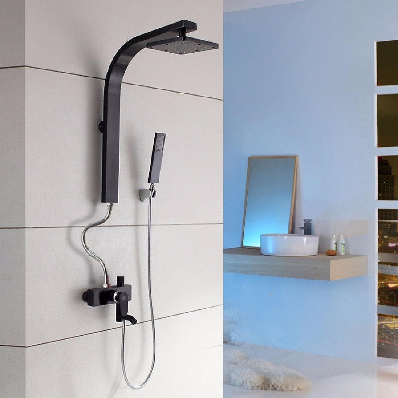 YFF@ILU Farbe dusche Anzüge, Einstellung des schwarzen Goldes raum Aluminium Persnlichkeit kreative Kpfe Dusche, Dusche, ich