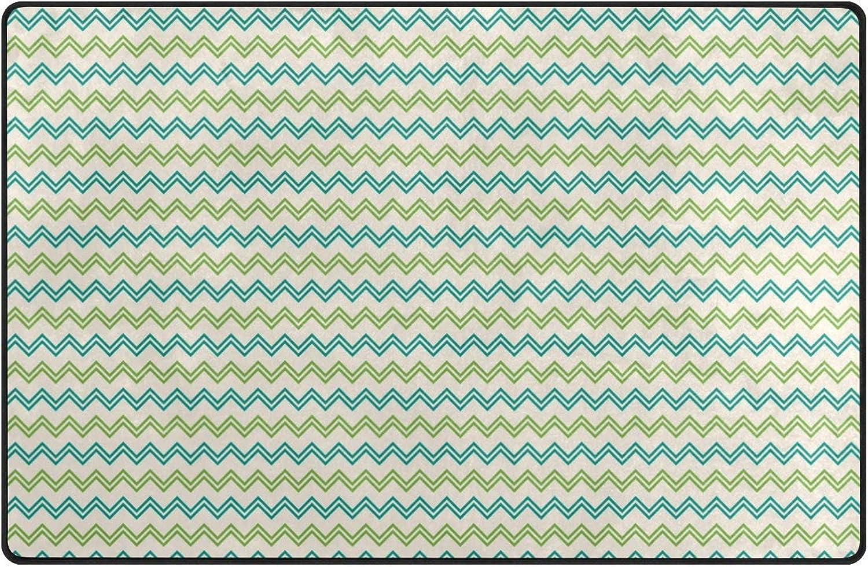 DEZIRO Green Break Line Floor mats for Home Entry Way Area Rug Doormat Carpet shoes Scraper Anti-Slip Washable