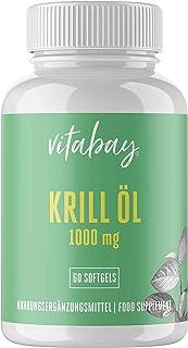 Vitabay Neptunus krillolja 500 mg – rik på Omega-3 fettsyror – hög biotillgänglighet – 60 softgels