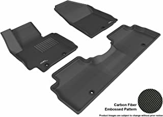 3D MAXpider Complete Set Custom Fit All-Weather Floor Mat for Select Kia Soul Models - Kagu Rubber (Black)