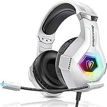 Cuffie Gaming per Ps4 Xbox One Ps5, Cuffie Da Gaming con Microfono e Bass Stereo Cancellazione del Rumore Controllo del Vo...