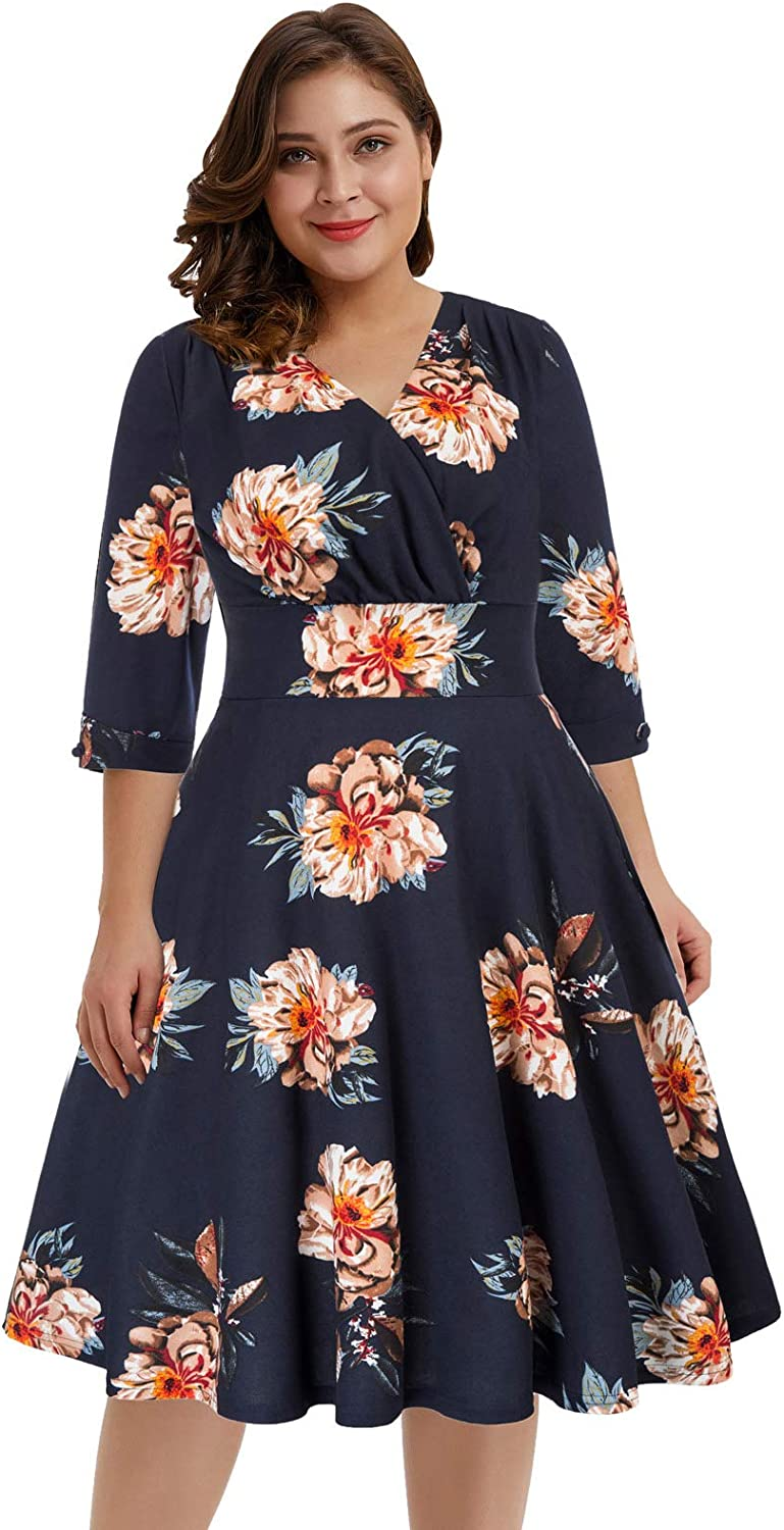 Hanna Online limited product Nikole Women's Vintage 1950s Plus Size Swing Style Choice Sleeved