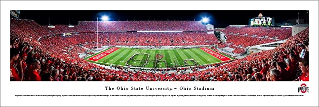 Ohio State Football - Band Script - Blakeway Panoramas  College Sports Posters