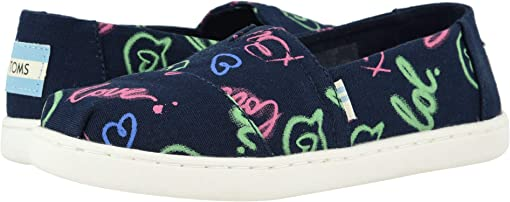 Navy Electric Love Print/Glow In The Dark
