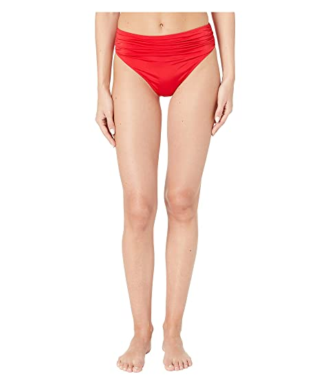 Stella McCartney Ballet Draped High-Waist Bikini Bottoms
