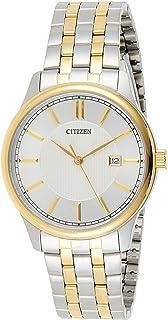CITIZEN Men's Quartz Watch, Analog Display and Stainless Steel Strap BI1054-55A, Silver
