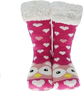 2b18e73107b79 CityComfort Slipper Socks 3D Nouveauté Animal mignon tricoté Pantoufles  très chaudes Laine d hiver douce
