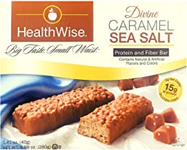 Healthwise - Divine Caramel and Sea Salt | Gluten Free Diet Snack Bars | Hunger Control and Appetite Suppressant High Prot...