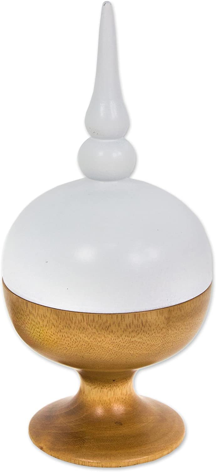 NOVICA Decorative Wood Max 73% OFF Max 84% OFF Jar Brown Spire' White 'Proud and