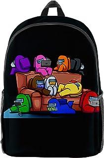 Among Us Rucksack 3D-Druck Wasserdichter Rucksack Student Schultasche Lässiger Laptop-Rucksack für Jungen Mädchen Teenager