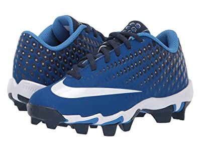 Nike Kids Vapor Ultrafly 2 Keystone Baseball (Little Kid/Big Kid) (Gym Blue/White/Midnight Navy) Boys Shoes