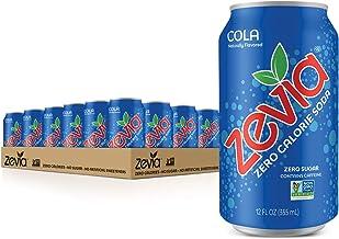 Zevia Zero Calorie Soda, Cola, 12 Fl. Oz (Pack of 24)