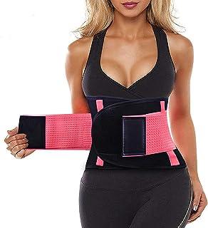 Midjetränare sport gördel bälte ryggstöd cincher trimmer bantning viktminskning kroppsformare band med dubbel justerbar ma...