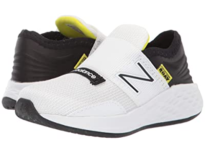 New Balance Kids Fresh Foam Roav (Infant/Toddler) (White/Black/Bleached Lime Glo) Boys Shoes
