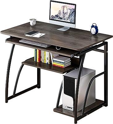 Yhjkvl Bureau d'ordinateur en bois pour ordinateur portable, station de travail, plateau d'écriture pour bureau à domicile (taille : 600 mm, couleur : noir)