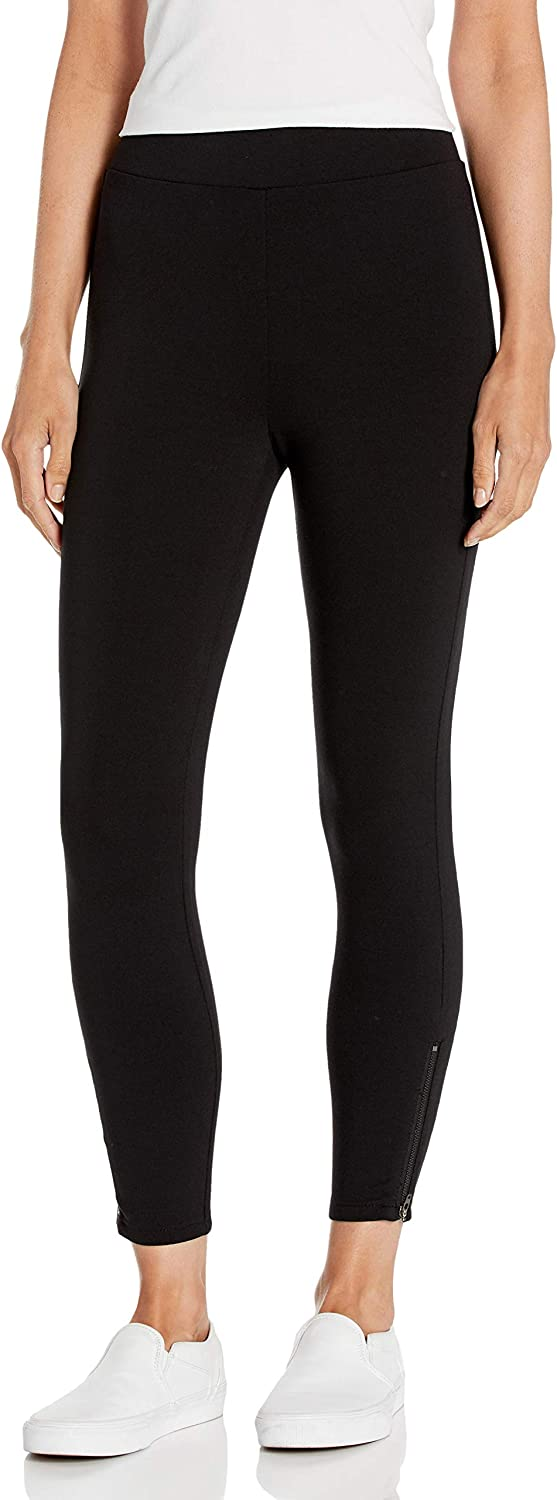 Daily Ritual Women's Ponte Knit Skinny-Fit Legging with Ankle Side Zips