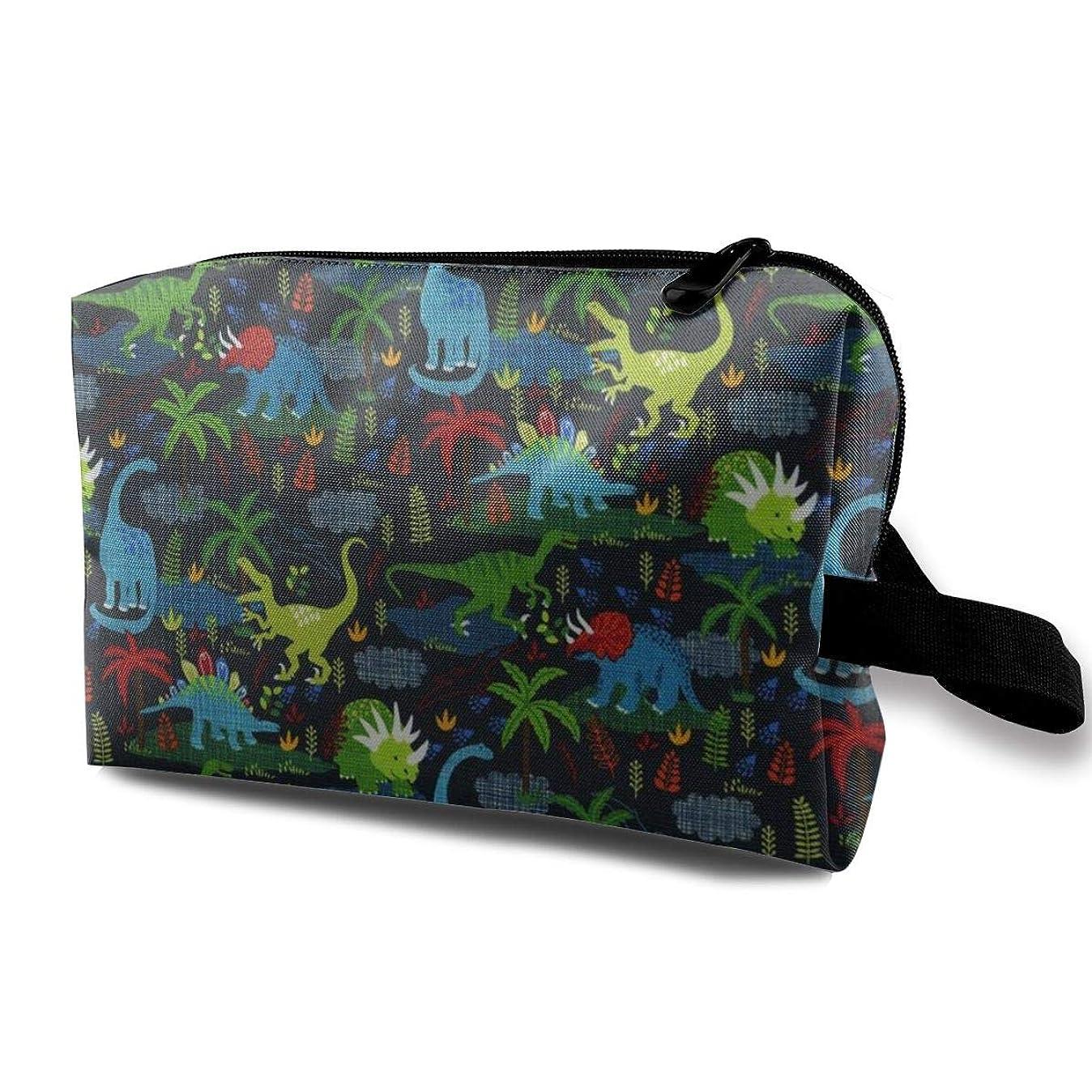 ねばねばジェームズダイソン不完全な恐竜と植物 化粧ポーチ トイレタリーバッグ トラベルポーチ 洗面用具入れ フルメイクセットバッグ 大容量 化粧品収納 出張 海外 旅行グッズ 育児グッズ レディース インナーバッグ