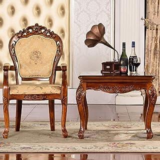 ShiSyan Silla Silla de Comedor Lado de la Tela Suave del Respaldo del Hotel con Apoyabrazos Fácil Comer for ensamblar Las Piezas 2 sillas de Cocina (Color: Marrón, Tamaño: 52x50x106cm) Sillas