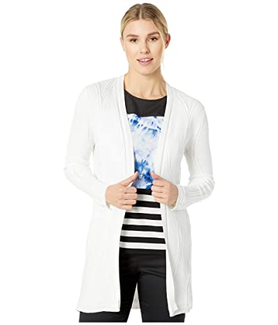 Calvin Klein Strecth Cable Cardigan (Soft White) Women