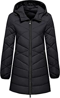 Women's Packable Down Jacket Light Weight Puffer Coat Hip-Length Winter Coat