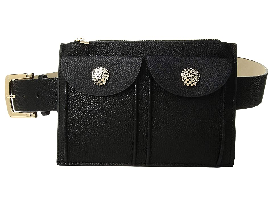 Vince Camuto Double Pocket Belt Bag (Black) Women