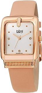 ساعة كوارتز للنساء من بورغي، بشاشة انالوج وسوار من الجلد