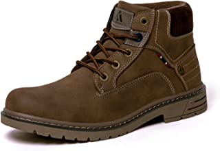 Mens Mid Hiking Boots Water Resistant Non Slip Outdoor Ankle Trekking Shoes