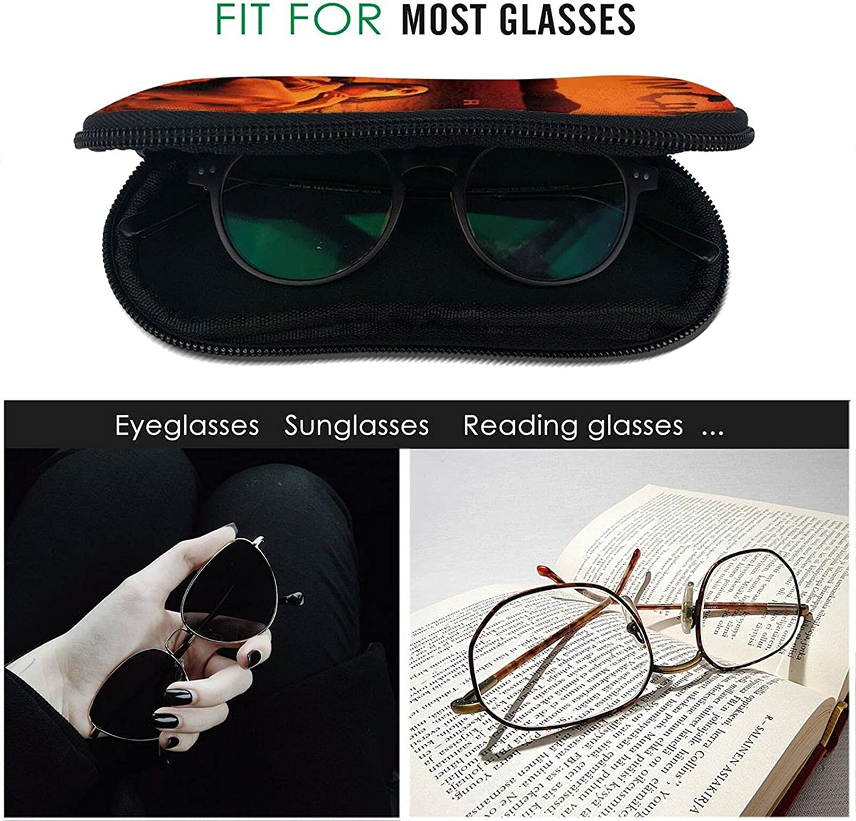 Alice in Chains Sunglasses Soft Case with Carabiner Clip Ultra Light Portable Neoprene Zipper Eyeglass for Women Men
