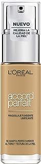 LOréal Paris Accord Parfait Base de maquillaje acabado natural con ácido hialurónico tono piel medio-oscuro 6D 30 ml