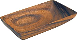 Pacific Merchants K0425 Acaciaware 8- by 5- by 1.5-Inch Acacia Wood Rectangle Serving Tray