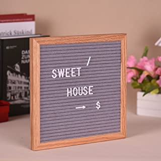 Letter Board Sign Message Home Office Decor Board Oak Frame with Changeable White Letters Symbols Numbers Characters Bag W...