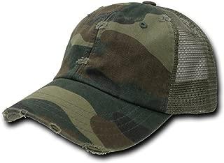 Vintage Washed Adjustable Mesh Trucker Baseball Cap Hat One Size Fits Most