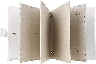 Earrings Organizer Book, WarmHut Small Portable Travel Jewelry EarringsEar Studs Organizer Holder Display Storage Bag Case Box (Silver)
