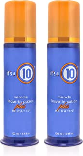 It's a 10 Haircare Miracle Leave-In Potion Plus Keratin, 3.4 fl. oz. (Pack of 2)