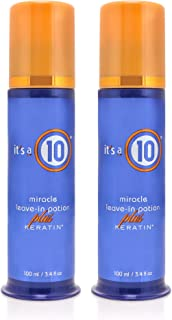 It's A 10 Miracle Leave In Potion Plus Keratin, 3.4 Fluid Ounce (Pack of 2)