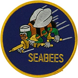Navy Seabees Large Patch - Blue Seabees W03S12A