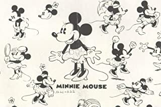 1940 Minnie Mouse Walt Disney Production Animation Lithograph Model Sheet