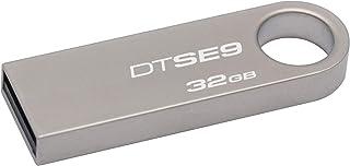 محرك اقراص فلاش رقمي سعة 32 جيجابايت بمخرج يو اس بي 2.0 داتا ترافيلر اس اي 9 من كينغستون طراز (DTSE9H/32GBZ)