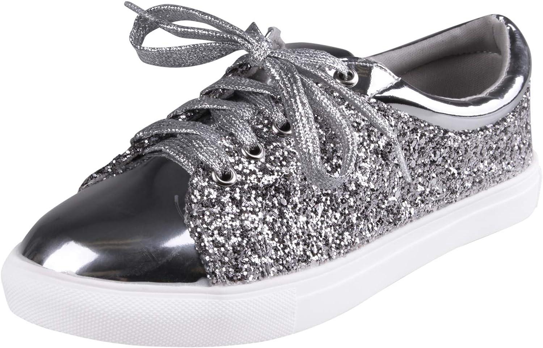 Enimay Women's Glitter Fashion Sneaker Classic Lace-up Mesh Running shoes