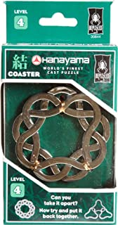 Bepuzzled COASTER Hanayama Cast Metal Brain Teaser Puzzle (Level 4) Puzzles For Kids and Adults Ages 12 and Up