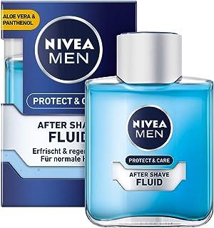 NIVEA MEN Protect & Care płyn po goleniu (100 ml), uspokajający po goleniu, pielęgnacja skóry po goleniu z aloesem i pante...
