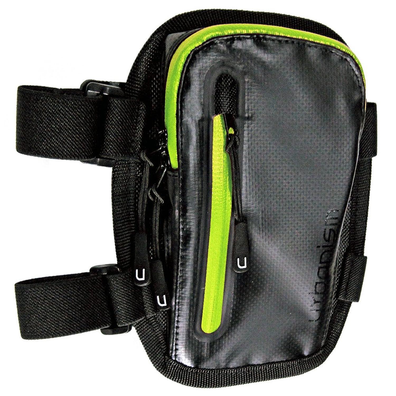 HK Urbanism アーバニズム アームポーチ アームバッグ [ブラック×グリーン 黒 緑] 腕バッグ ターポリン UNK902