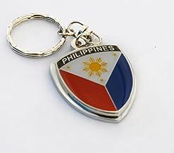 "Amazing Philippines Pilipino Show Quality Metal Decorative Keychain 1.7"" Tall"