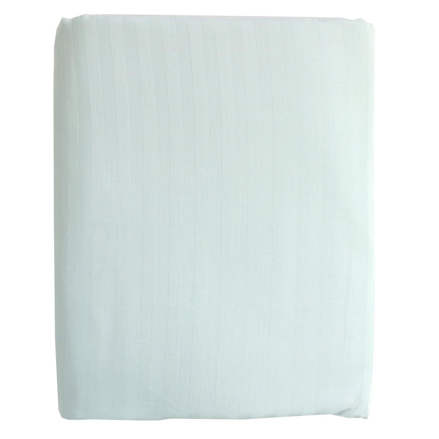 メッセンジャー大気公使館メリーナイト 綿100% サテン織り 敷布団カバー 「ストライプ」 シングルロング サックス MC34013-76